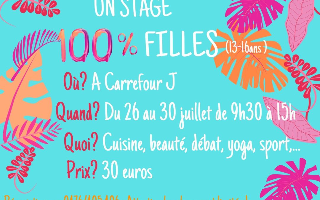 Stage 100% filles